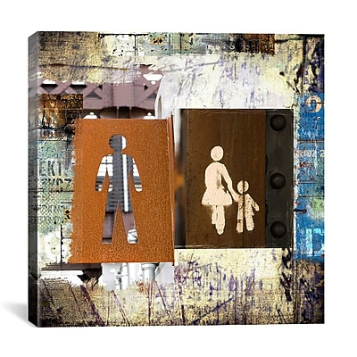 iCanvas ''Man, Woman, Child'' by Luz Graphics Graphic Art on Canvas; 37'' H x 37'' W x 0.75'' D