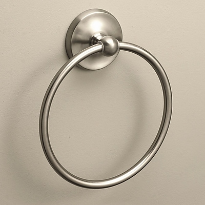 Premier Faucet Bayview Wall Mounted Towel Ring; Brushed Nickel