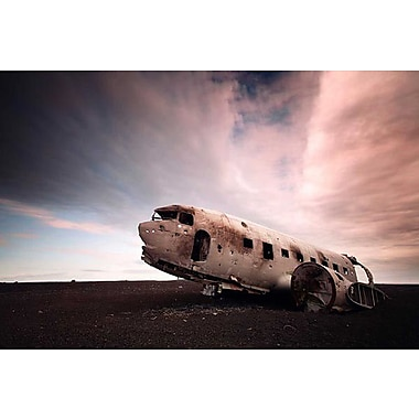 iCanvas Iceland Plane Wreck by Nina Papiorek Photographic Print on Wrapped Canvas