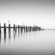 iCanvas China Camp Pano, by Moises Levy Part 2 of 3 Photographic Print on Canvas in Gray