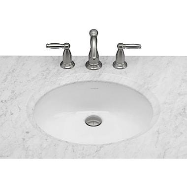 Ronbow Halo Ceramic Oval Undermount Bathroom Sink w/ Overflow