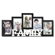AdecoTrading 5 Opening Wooden Photo Collage Wall Hanging Picture Frame