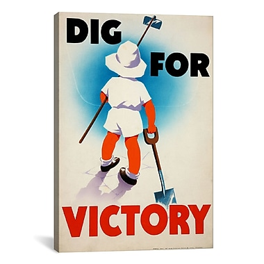 iCanvas Dig for Victory (WWII) Vintage Advertisement on Canvas; 26'' H x 18'' W x 0.75'' D