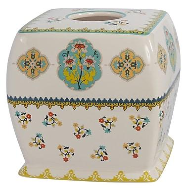 Creative Bath Sasha Bright Ceramic Tissue Box Cover
