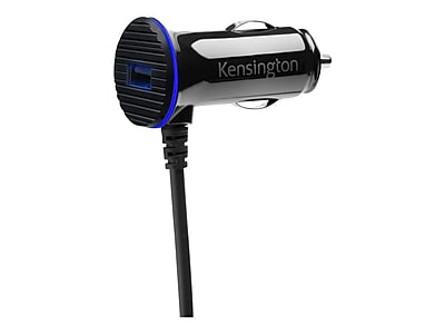 Kensington® PowerBolt™ 3.4 Dual Fast Charge Car Charger, Black, Micro USB (K38119WW)