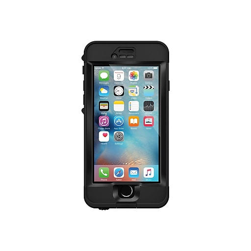 super popular 23c84 9bbb7 LifeProof 77-52569 nUUd Synthetic Rubber/Polycarbonate Protective Case for  iPhone 6s, Black