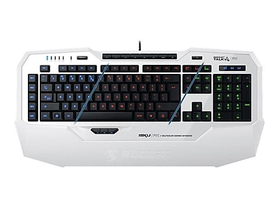 Roccat™ Isku FX ROC-12-921 USB Wired Multicolor Gaming Keyboard, White