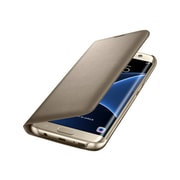 Samsung EF-NG935PFEGUS Polycarbonate LED View Cover for Galaxy S7 Edge, Gold