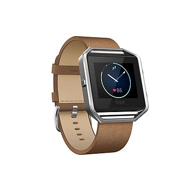 Fitbit – Bracelet accessoire Blaze, cuir, chamois