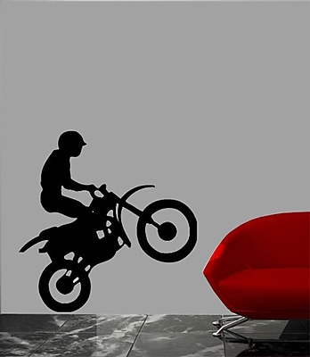 Wallhogs Motorcycle VIII Cutout Wall Decal; 36'' H x 22'' W