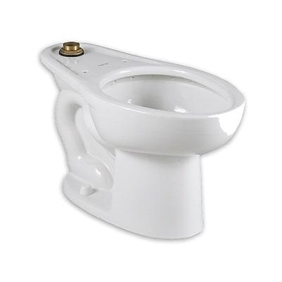 Madera Everclean Universal Back Spud/Bedpan Dual Flush Elongated Toilet Bowl w/ Touchless Flush