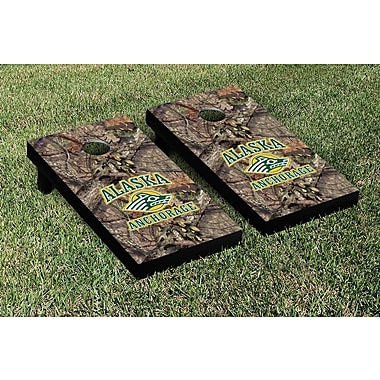Victory Tailgate NCAA Mossy Oak Version Cornhole Game Set; Alaska Anchorage Seawolves