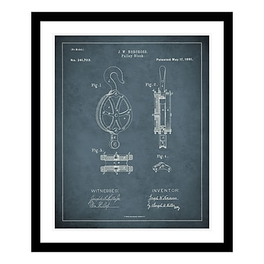ReplayPhotos 1881 Pulley Patent Framed Graphic Art