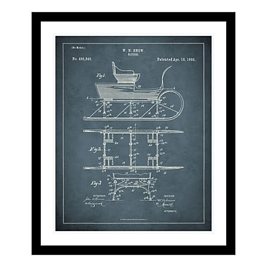 ReplayPhotos 1893 Sleigh Patent Framed Graphic Art