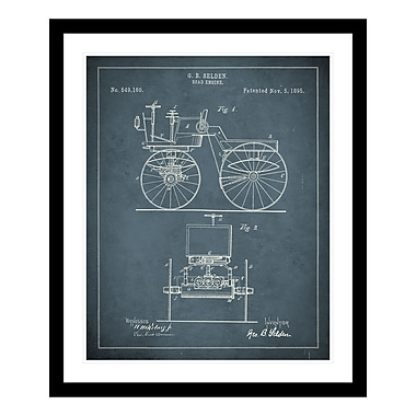 ReplayPhotos 1895 Road Engine Patent Framed Graphic Art