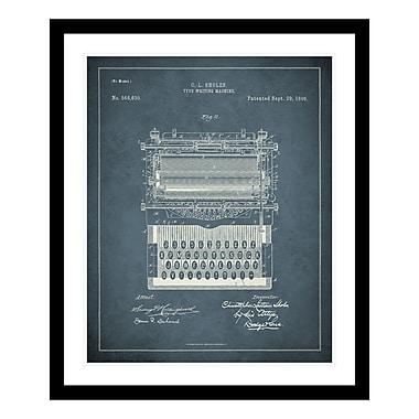 ReplayPhotos 1896 Typewriter Patent Framed Graphic Art