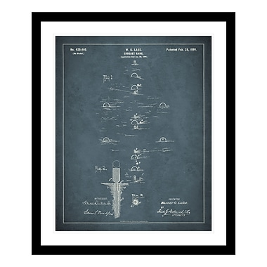 ReplayPhotos 1899 Croquet Game Patent Framed Graphic Art