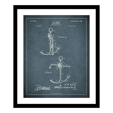 ReplayPhotos 1902 Anchor Patent Framed Graphic Art