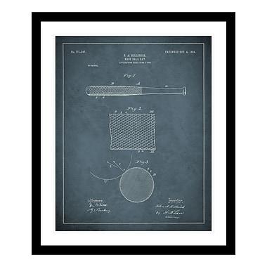 ReplayPhotos 1904 Baseball Bat Patent Framed Graphic Art