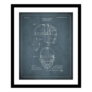 ReplayPhotos 1907 Catcher's Mask Patent Framed Graphic Art