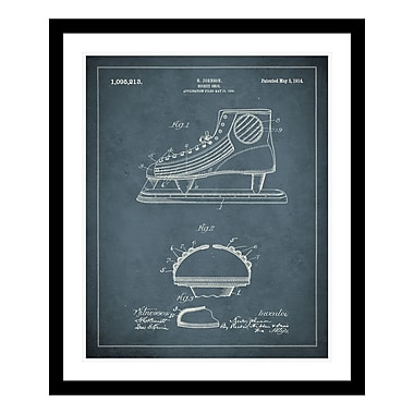 ReplayPhotos 1914 Ice Skate Patent Framed Graphic Art