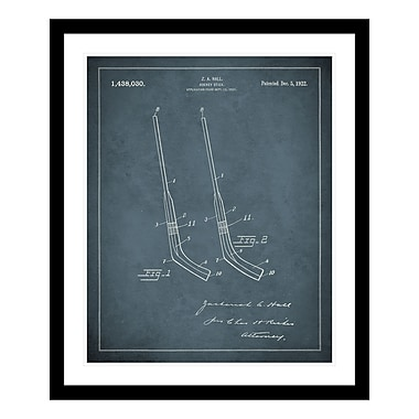 ReplayPhotos 1922 Hockey Stick Patent Framed Graphic Art
