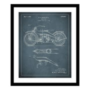 ReplayPhotos 1924 Motorcycle Patent Framed Graphic Art