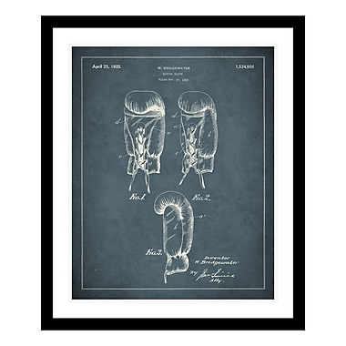 ReplayPhotos 1925 Boxing Glove Patent Framed Graphic Art