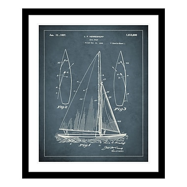 ReplayPhotos 1927 Sail Boat Patent Framed Graphic Art
