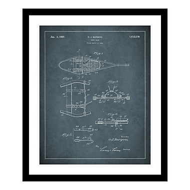 ReplayPhotos 1927 Snowshoe Patent Framed Graphic Art
