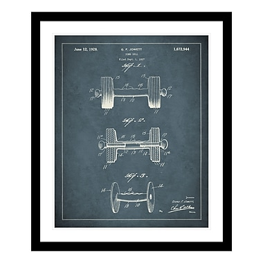 ReplayPhotos 1928 Dumbbell Patent Framed Graphic Art