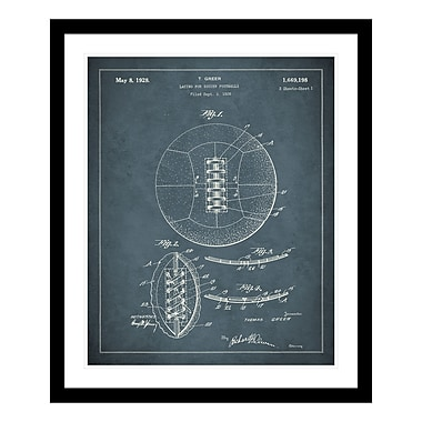 ReplayPhotos 1928 Soccer Ball Patent Framed Graphic Art
