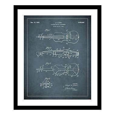 ReplayPhotos 1935 Violin Patent Framed Graphic Art