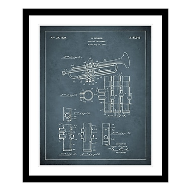 ReplayPhotos 1939 Trumpet Patent Framed Graphic Art