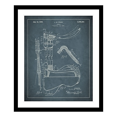 ReplayPhotos 1940 Saddle Patent Framed Graphic Art