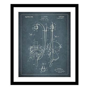 ReplayPhotos 1943 SCUBA Gear Patent Framed Graphic Art