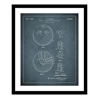 ReplayPhotos 1949 Bowling Ball Patent Framed Graphic Art