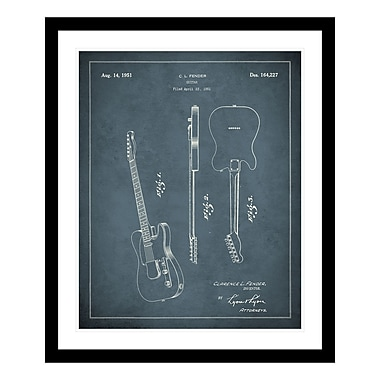 ReplayPhotos 1951 Guitar Patent Framed Graphic Art