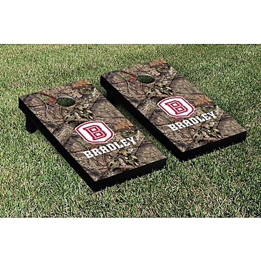 Victory Tailgate NCAA Mossy Oak Version Cornhole Game Set; Bradley Braves