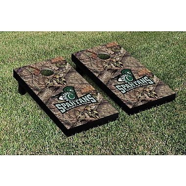 Victory Tailgate NCAA Mossy Oak Version Cornhole Game Set; Castleton State Spartans