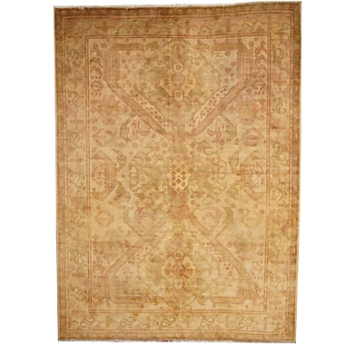 Herat Oriental Hand-Knotted Gold/Green Area Rug