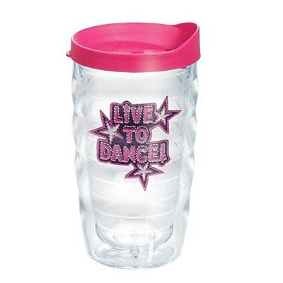 Tervis Tumbler Totally Kids Live to Dance Wavy 10 oz. Plastic Every Day Glass; Yes