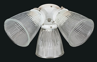 Concord Fans 3-Light Branched Fan Light Kit; White