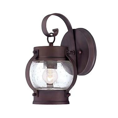 Acclaim Lighting Boulder 1-Light Outdoor Wall Lantern; Architectural Bronze