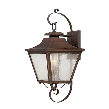 Acclaim Lighting Lafayette 2-Light Outdoor Wall Lantern; Copper Patina