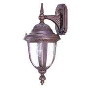 Acclaim Lighting Monterey 1-Light Outdoor Wall Lantern; Burled Walnut