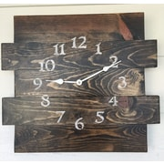 essex hand crafted wood products Oversized Canewdon Reclaimed Style Wood Wall Clock