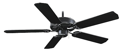 Royal Pacific 52'' Royal Knight 5 Blade Fan; Black with Black Blades WYF078278584792