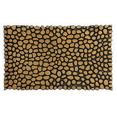 Home & More Pebbles Rubber Utility Mat; Gold