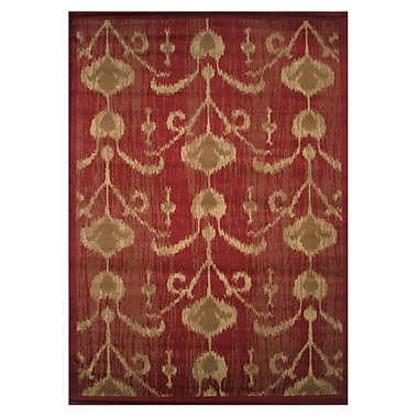 LA Rugs Inspiration Red Area Rug; 2' x 4'